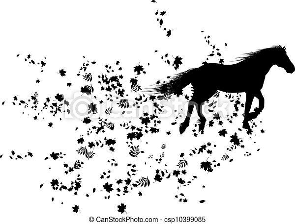 autumnal horse - csp10399085