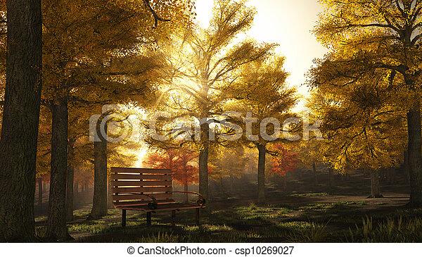 Autumnal Park Scene - csp10269027