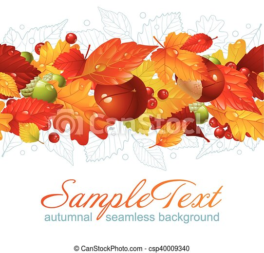 Autumnal seamless horizontal background - csp40009340
