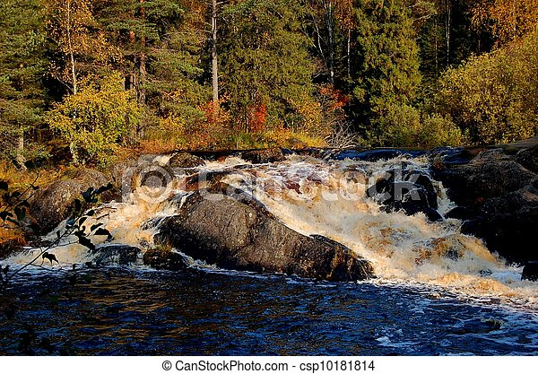 autumnal waterfall - csp10181814