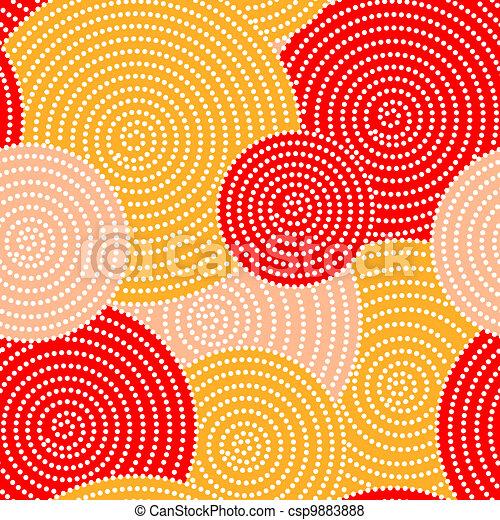 autunno, cerchio, onde - csp9883888