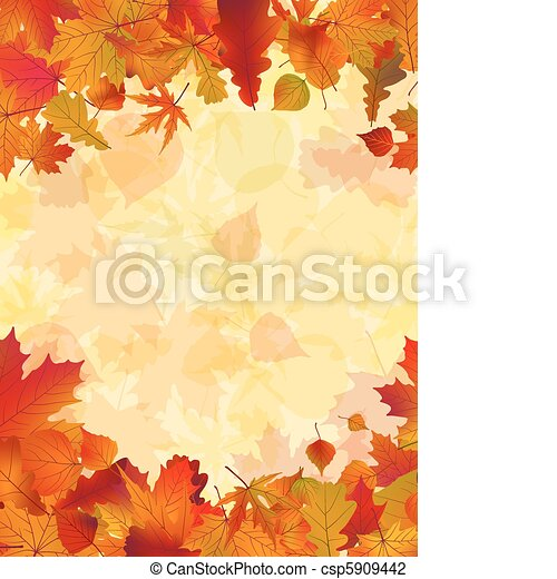 autunno, fondo., foglie, eps, 8 - csp5909442