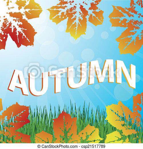 autunno, fondo - csp21517789