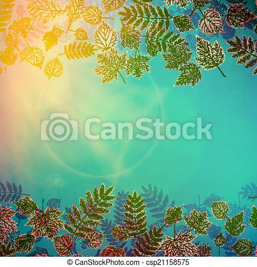 autunno, giallo, leaves., colorito, rosso - csp21158575