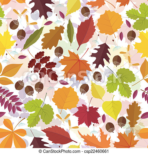 autunno, modello, foglie, seamless - csp22460661