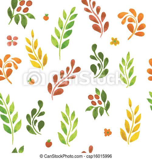 autunno, modello, mette foglie - csp16015996