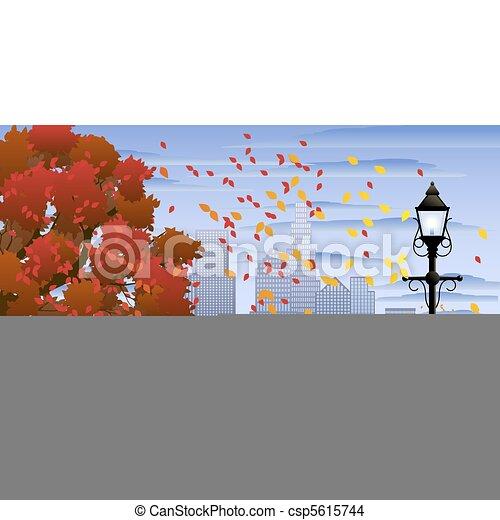 autunno, parco - csp5615744
