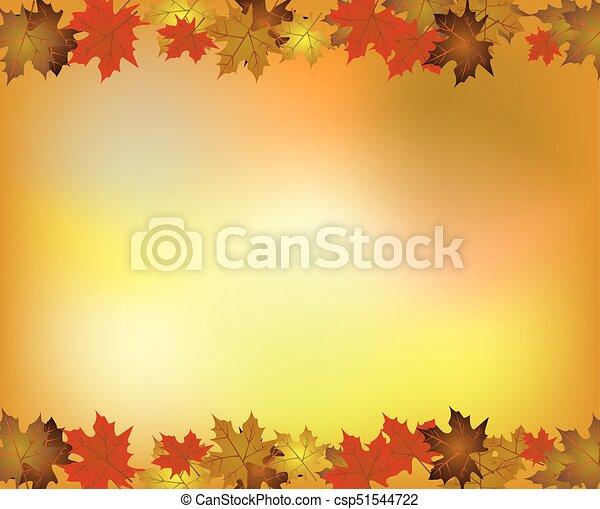 autunno parte, fondo, acero - csp51544722