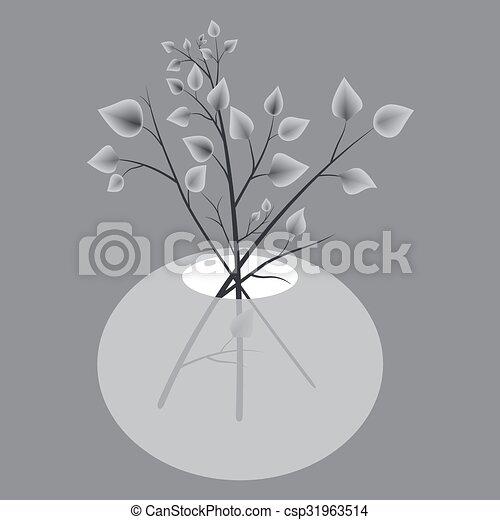 autunno parte, vaso - csp31963514