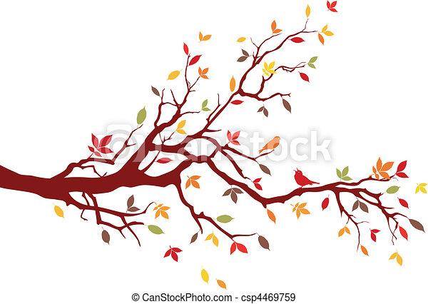 autunno, ramo - csp4469759