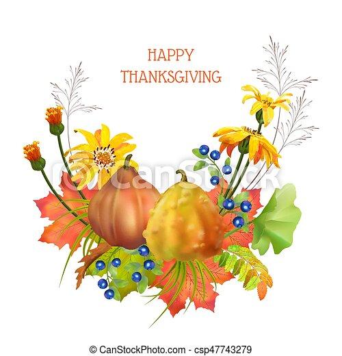 autunno, ringraziamento, composizione - csp47743279