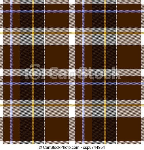 autunno, tartan, seamless, stoffa, modello - csp8744954