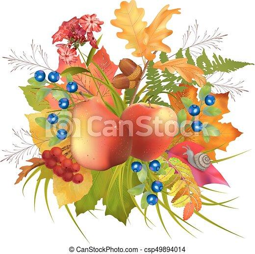 autunno, vettore, composizione - csp49894014