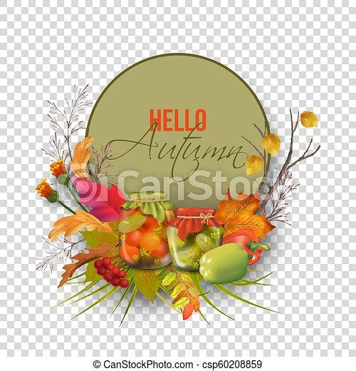 autunno, vettore, scheda - csp60208859