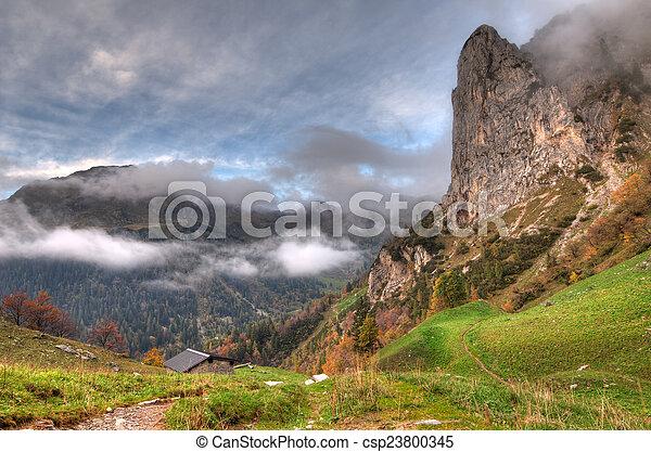 auutumn in the mountain - csp23800345