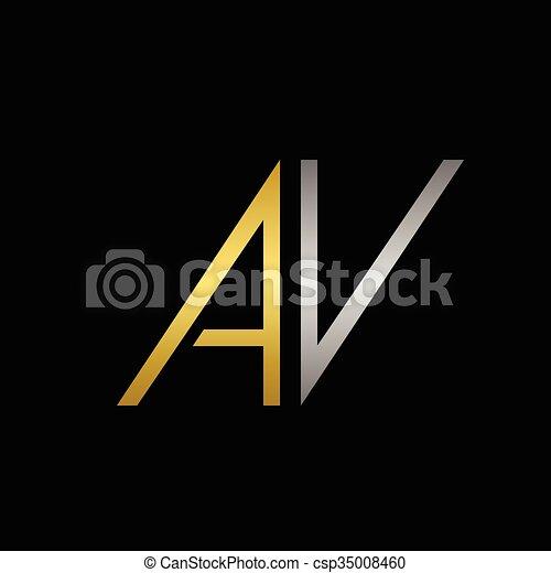 Av letters logo golden a and silver v letters logo template av letters logo csp35008460 altavistaventures Gallery