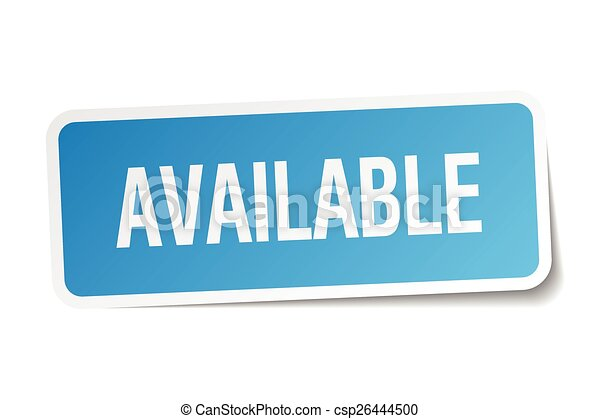 available blue square sticker isolated on white - csp26444500