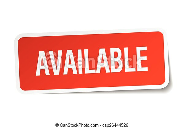 available red square sticker isolated on white - csp26444526