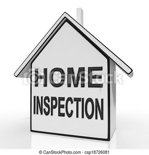 avaliar, meios, casa, inspeccionando, lar, propriedade, inspeção - csp18726081