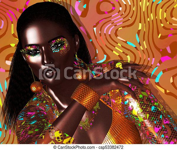 Avant garde fashion and beauty scene - csp53382472