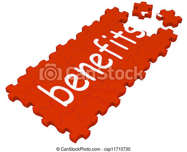 avantages, compensations, puzzle, spectacles - csp11710730