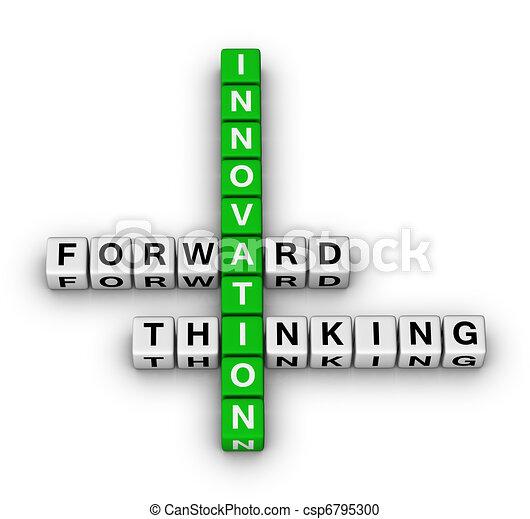 avanti, pensare, innovazione - csp6795300