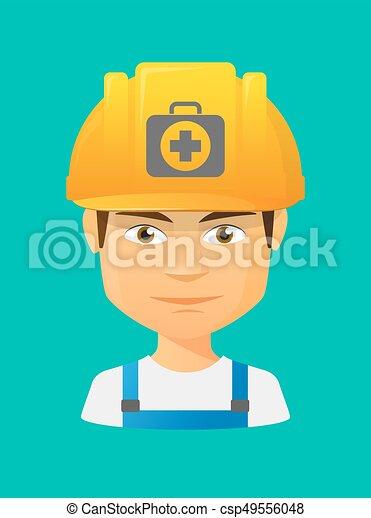 avatar, arbeiter, satz, ikone, hilfe, zuerst - csp49556048