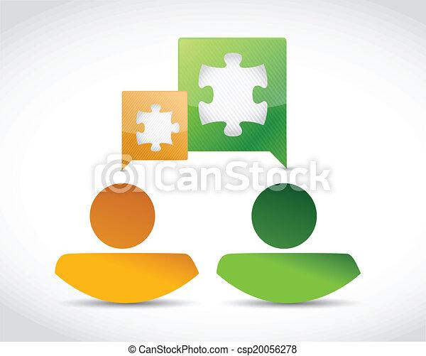 avatar business people conversation - csp20056278