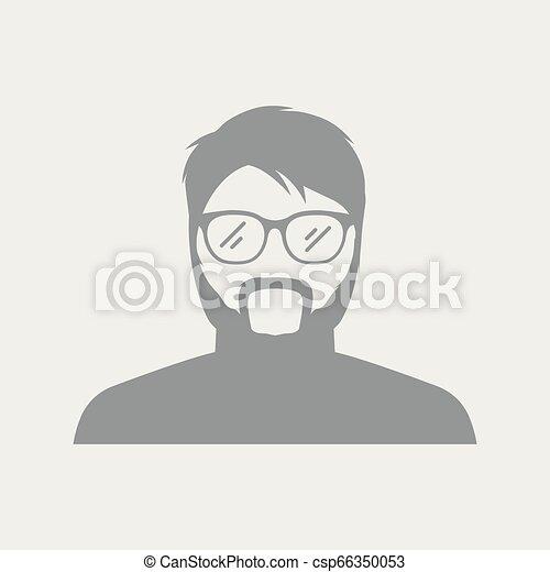 Avatar face of senior man - csp66350053