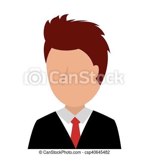 Hombre de negocios Avatar - csp40645482