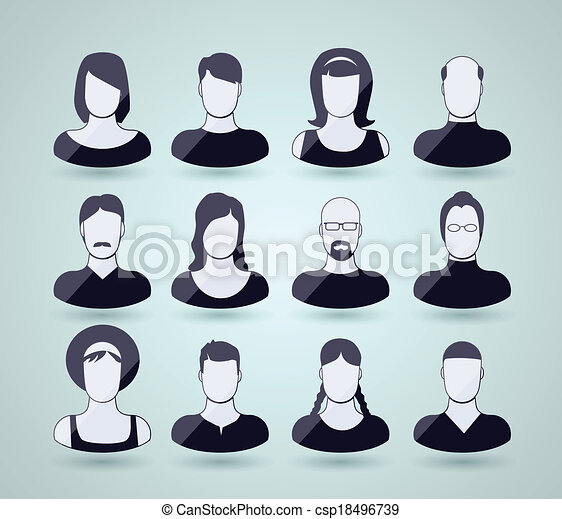 avatar, icone - csp18496739