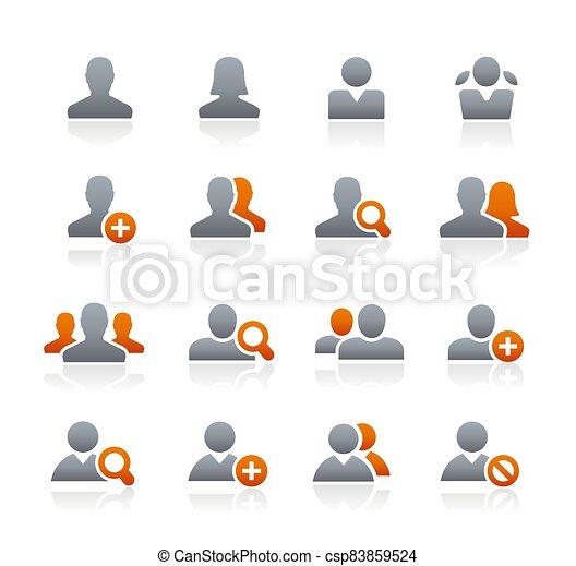 Avatar Icons // Graphite Series - csp83859524