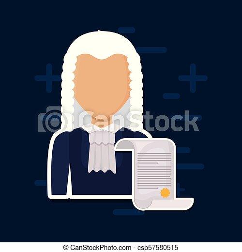 avatar judge man icon - csp57580515