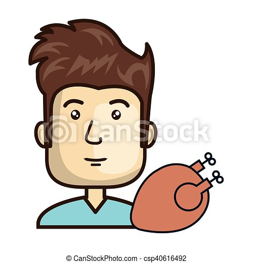 Avatar Man With Food Avatar Man Smiling With Chicken Food Vector