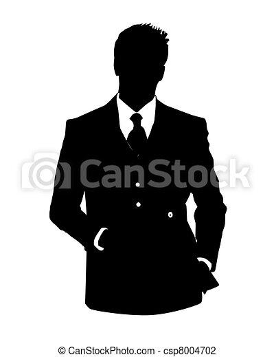El hombre avatar de la oficina - csp8004702