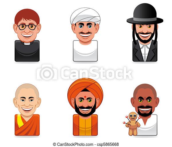 Avatar people icons (religion) - csp5865668