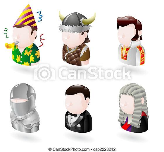 avatar people internet icon set - csp2223212