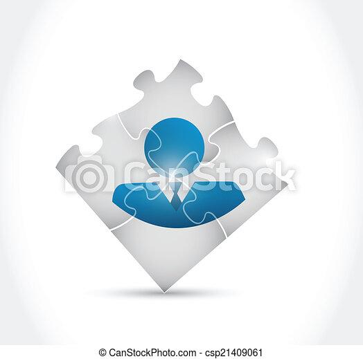avatar puzzle pieces illustration design - csp21409061