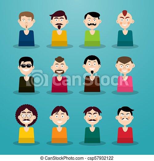 Avatar Set. Men - Users Icons. - csp57932122