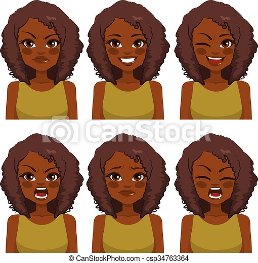 Avatar Woman Expressions - csp34763364