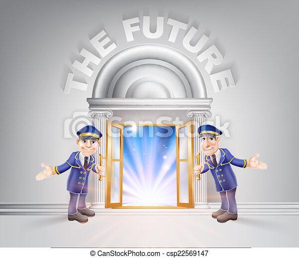 avenir, porte, portiers - csp22569147