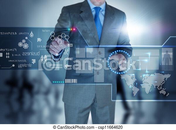 avenir, technologie, exposer - csp11664620