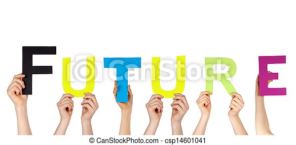 avenir, tenant mains - csp14601041