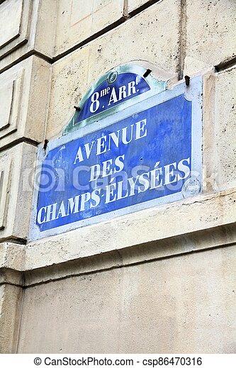 Avenue Champs-Elysees, Paris - csp86470316