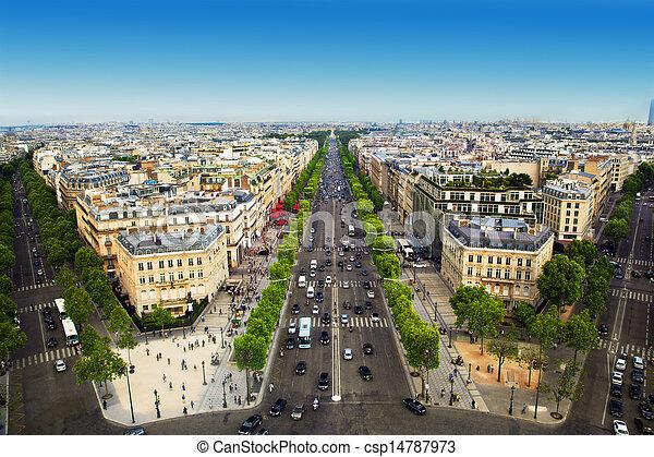 Avenue des Champs-Elysees in Paris, France - csp14787973