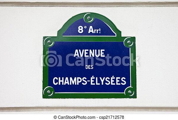 Avenue Des Champs-Elysees in Paris - csp21712578