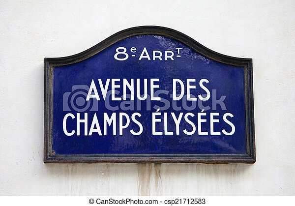 Avenue Des Champs-Elysees in Paris - csp21712583