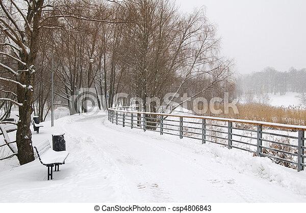 Avenue in the winter - csp4806843
