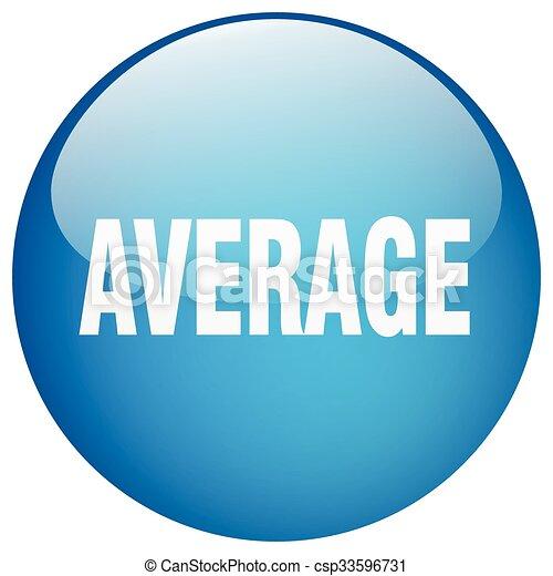 average blue round gel isolated push button - csp33596731