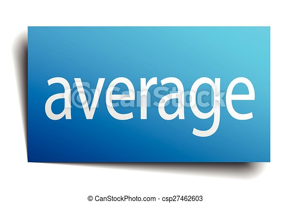 average blue square isolated paper sign on white - csp27462603